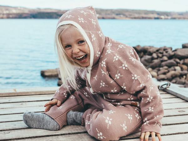 Bilde av Jakke Icelandic i merinoull, støvrosa